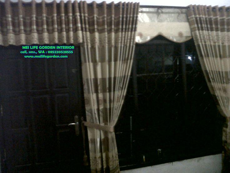 gorden pintu depan