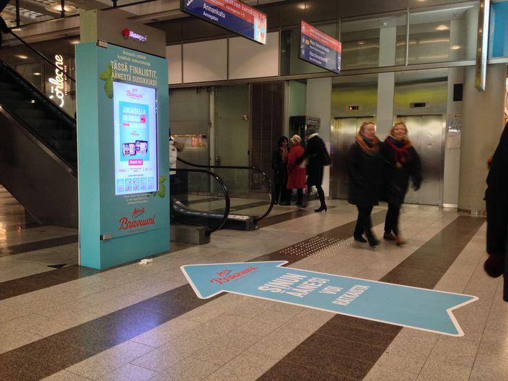 Atria bravuuri äänestys Kampin kauppakeskuksessa, marraskuu 2014 #dooh