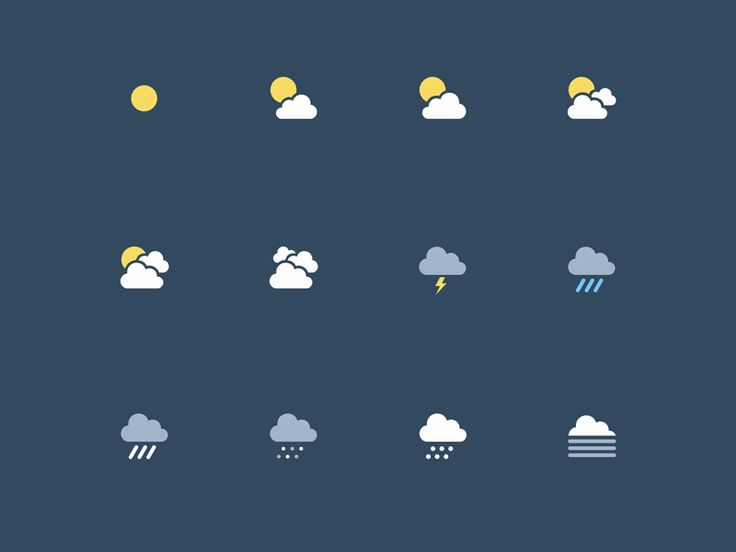 Weather icon set by Paul du Coudray for Salesforce