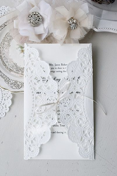 Doily invite...cool