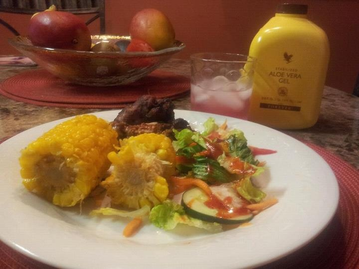 Had my ALOE VERA GEL with dinner.  It was lovely!