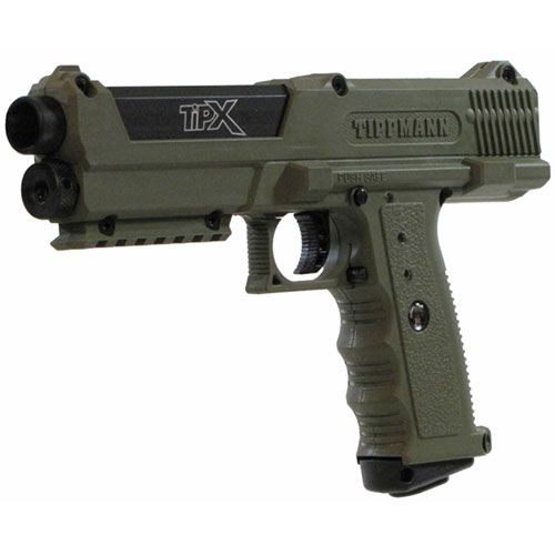 Tippmann TiPX Paintball Gun Pistol Olive | Badlands Paintball Gear Canada