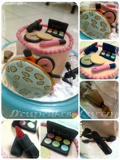 Mac cosmetics cake