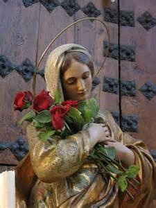 Blessed Mother, Mother Mary, Holy Mary.  I have only seen this photo in black and white before.  So lovely with the colors.