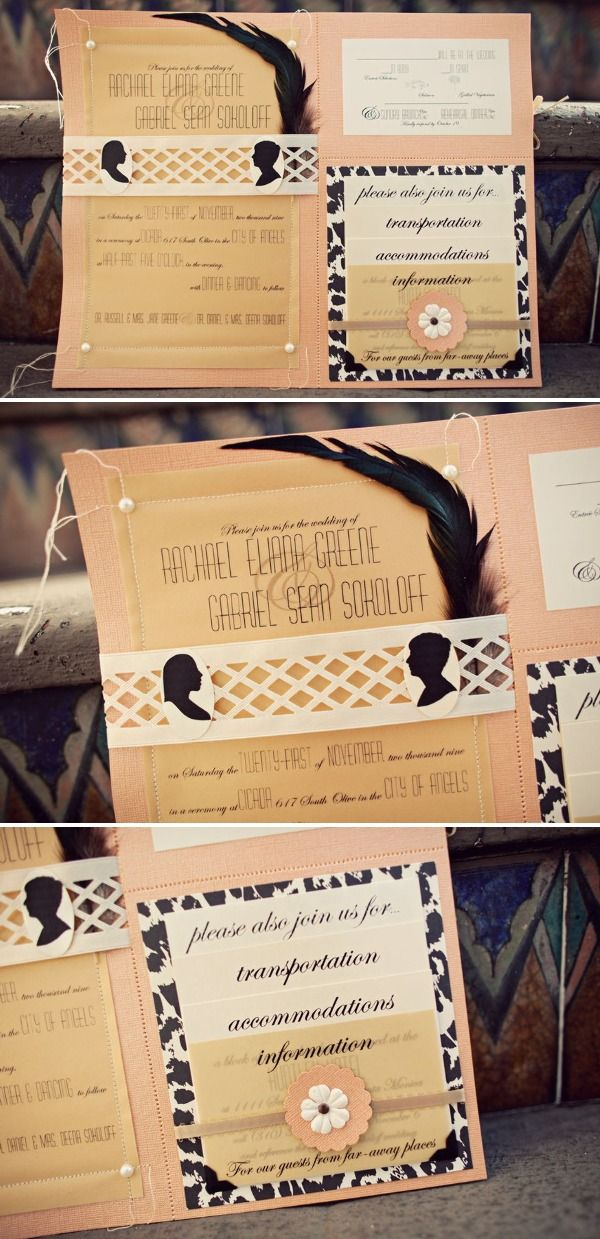 Luxe DIY Paper Goods | Style Me Pretty: Diy Wedding Invitations, Weddings, Paper Good, Luxe Diy, Invitations Cards, Feathers, Diy Projects, Diy Paper, Invitations Weddinginvit