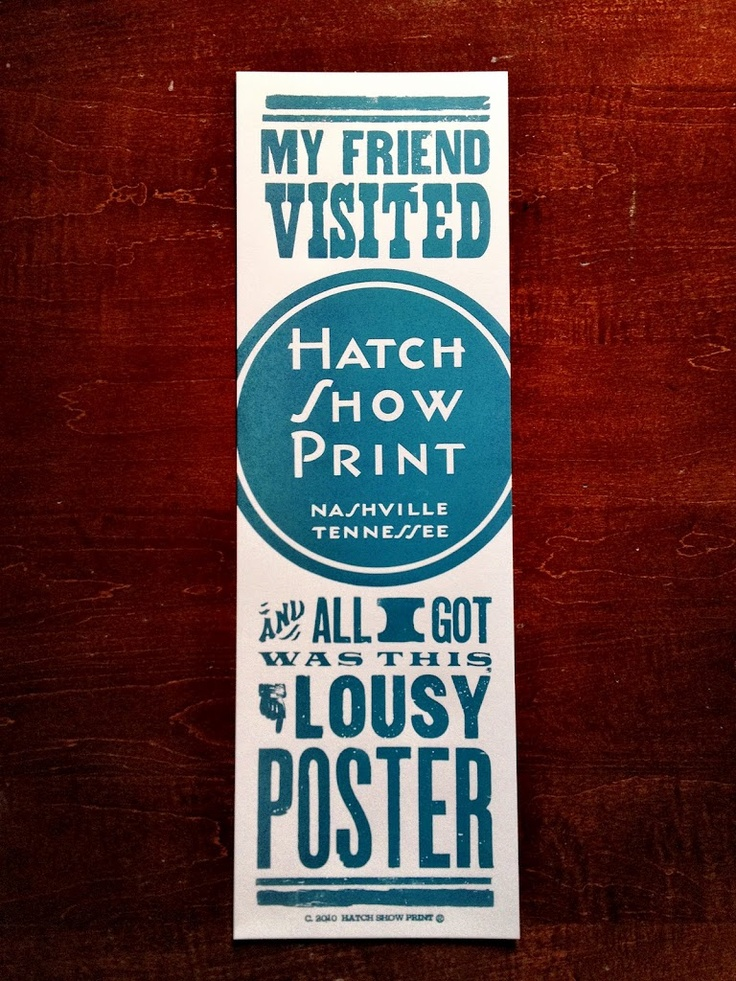 Hatch Show Print collection.