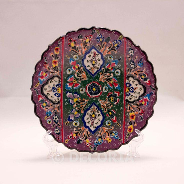 Small Plate - Purple & Green - DECORIA HOME & GIFT