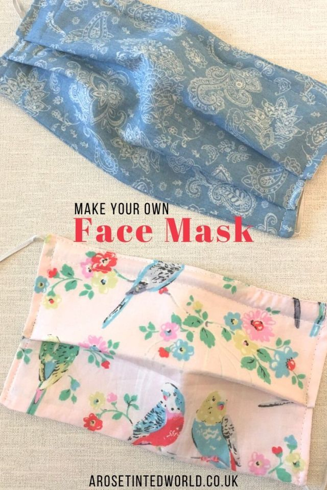 How To Sew A Face Mask With A Filter Pocket Sewing Sewing
