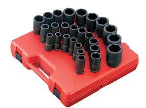 "Sunex 4693 26 Pc. 3/4"" Drive Metric Deep Impact Socket Set"