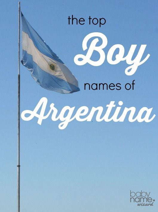 Top Boy Names in Argentina! #Argentina #babynames