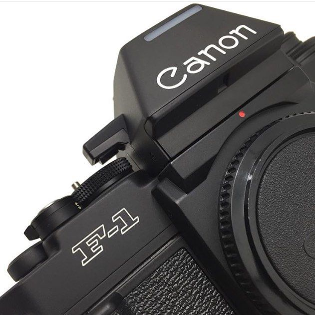 Canon F1 35mm SLR film camera with interchangeable finder