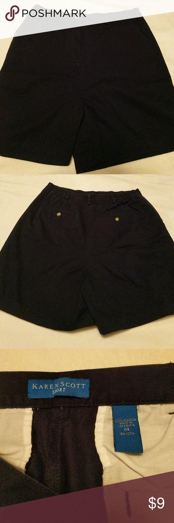 Karen scott sport navy shorts size 14 Karen scott sport navy shorts size 14 Laura Scott Shorts
