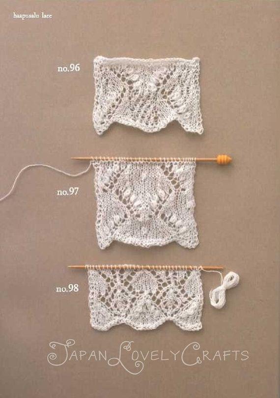 Knitting Lace 104 – Kotomi Hayashi – Japanese Knit Pattern Book – Edging, Haapusalu Patterns – B1180