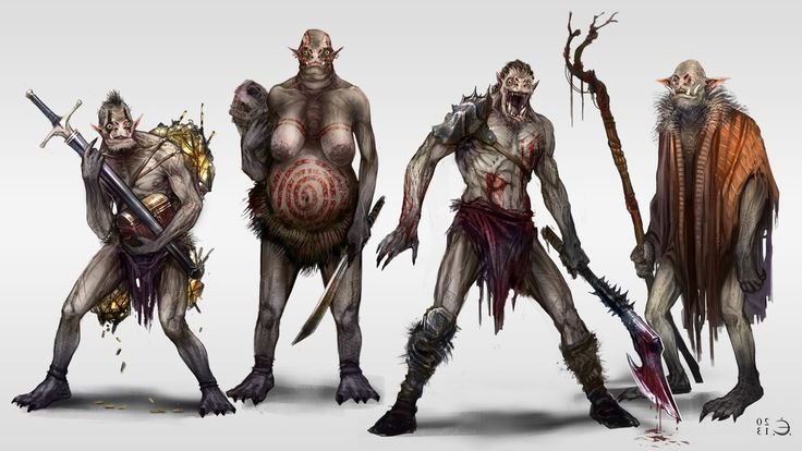 Orcs categories concept by Fesbraa