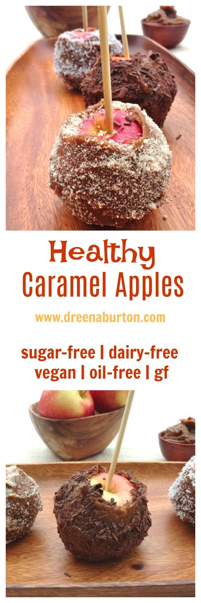 HEALTHY Caramel Apples! sugar-free, vegan, dairy-free, oil-free, gluten-free