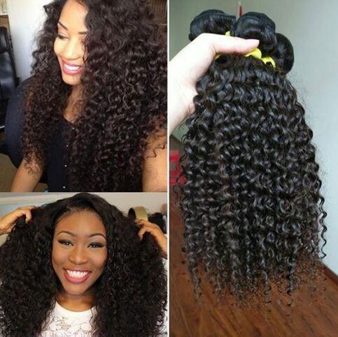 Newness 7A Indian Virgin Hair Kinky Curly Wave 4 Bundles Indian Curly Virgin Hair Wet And Wavy Human Hair Weave Bundles