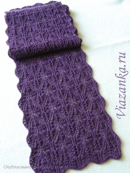 общий вид ажурного женского шарфа
