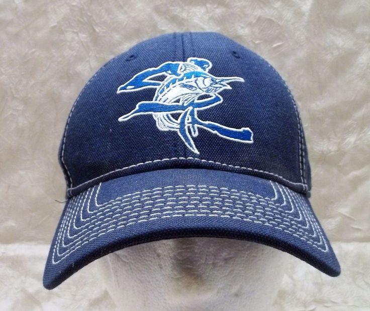 Salt Life Blue Hat Elastic Band Cap Adult L Large Or Smaller - See Description #SaltLife