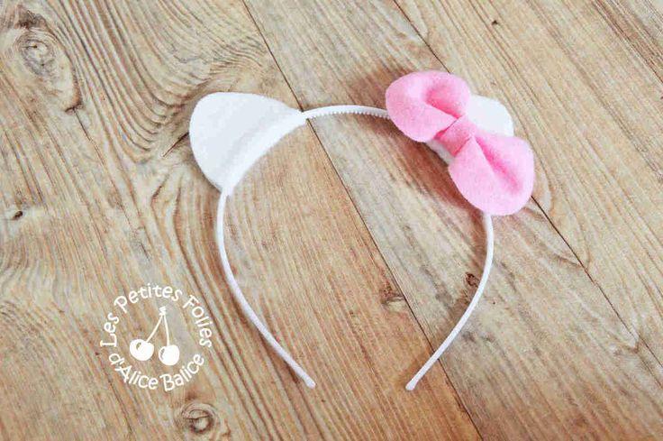 Alice Balice DIY - Anniversaire Hello Kitty : serre-tête