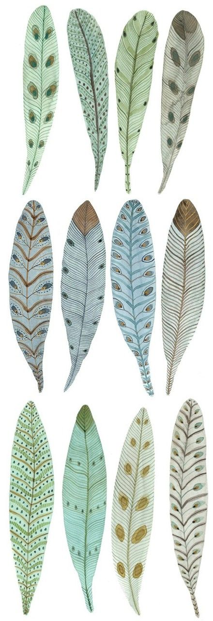 shades of blue feathers, found these very useful, printed and cut out, used some for cards, others for dream catcher, many thanks pinner.