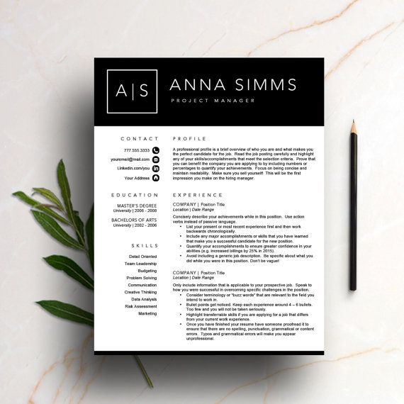 The 55 best Modern Resume Templates images on Pinterest ...