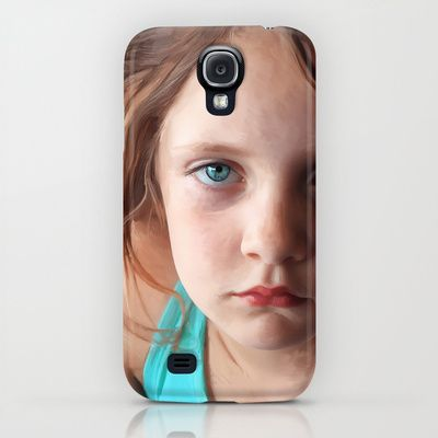 Portrait - the day she was sick and didn't want to smile iPhone & iPod Case $35.00