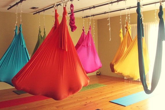 I'd love my own antigravity hammock at home to practice one day - not sure where I'd put it, maybe in the lounge room next to the stairs.