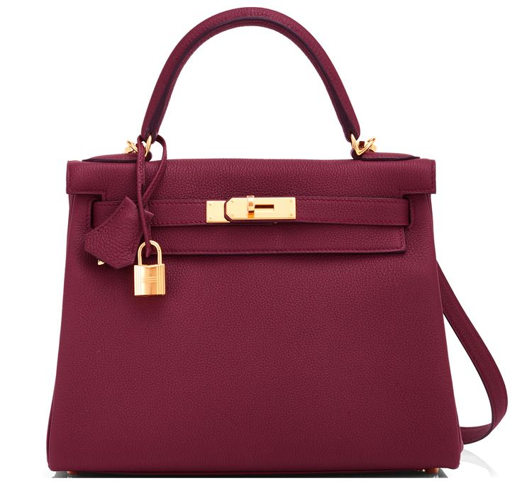 #Hermes #Kelly #Bag Bordeaux Togo Gold Hardware