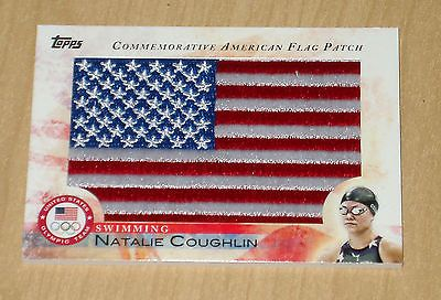 Olympics Cards 2956: 2012 Topps Olympics Commemorative American Flag Patch Natalie Coughlin Swimming -> BUY IT NOW ONLY: $149.99 on eBay!