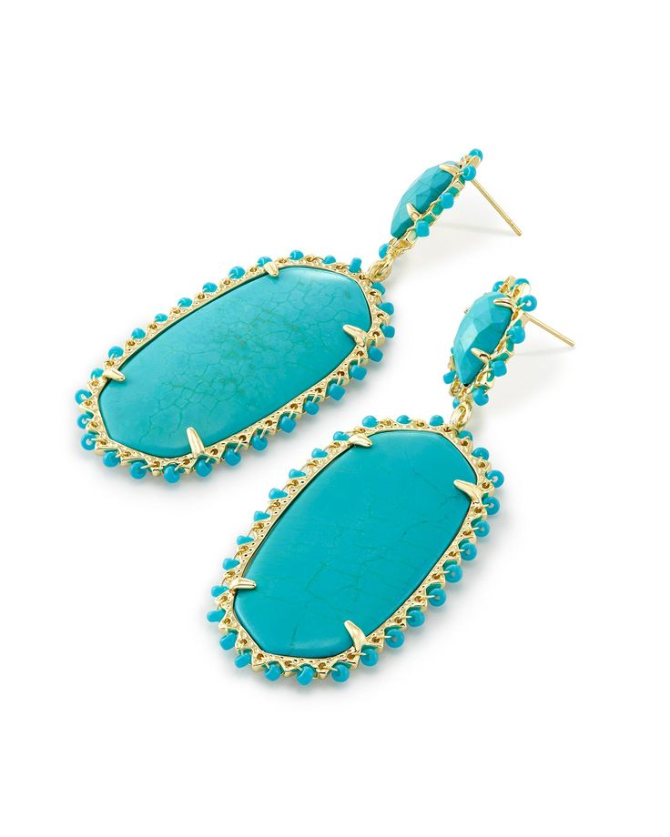 Parsons Statement Earrings In Turquoise - Kendra Scott Jewelry