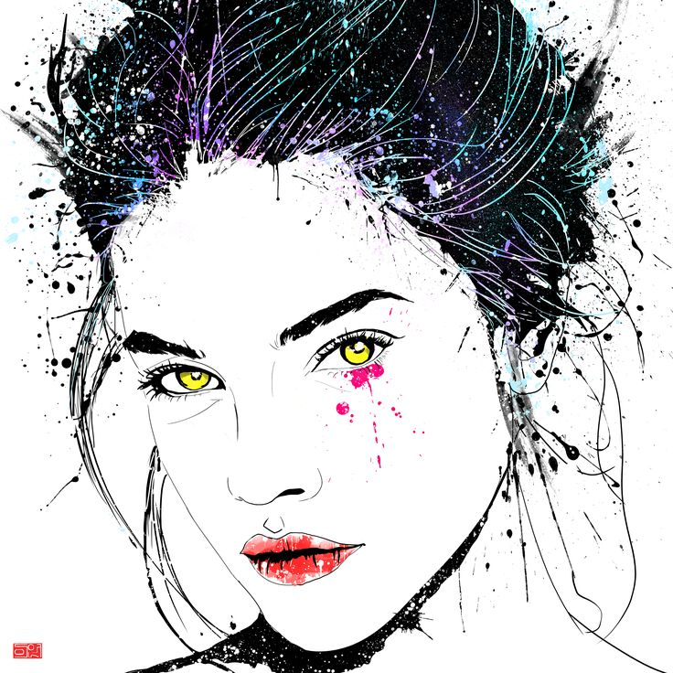 LEEUN / Barbara Palvin 작품 POPART,Korean painting, 80X80