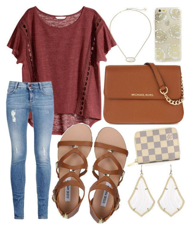 """""""Well ain't that s'well """" by jadenriley21 on Polyvore featuring H&M, Steve Madden, STELLA McCARTNEY, Kendra Scott, Sonix, MICHAEL Michael Kors and Louis Vuitton"""