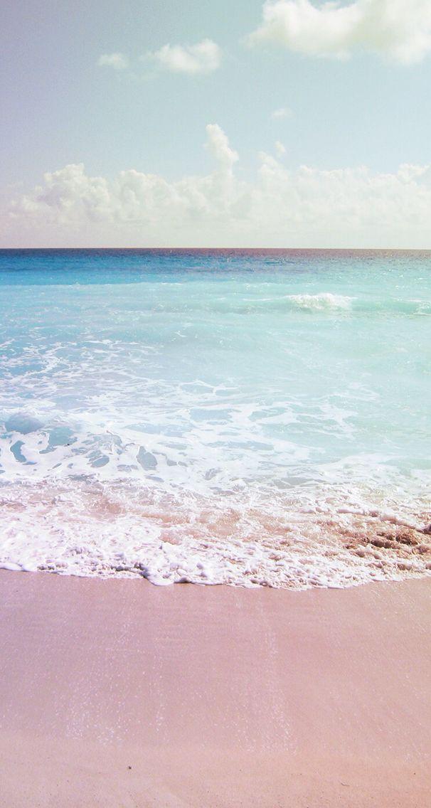 Pink Sand Beach Lockscreen