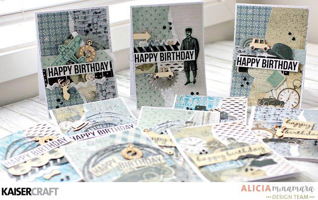 Quick Ten Male Cards - Kaisercraft Barber Shoppe