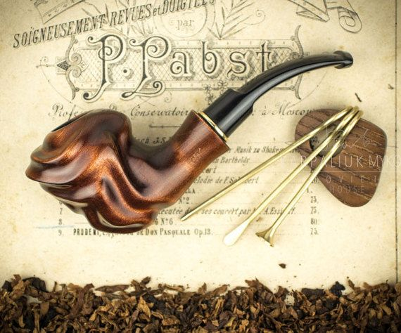 "Smoking Pipe ""Labyrinth "". Wood carved smoking pipe. Tobacco Pipes. Wooden Pipe. Tobacco Bowl. Wooden Pipes."