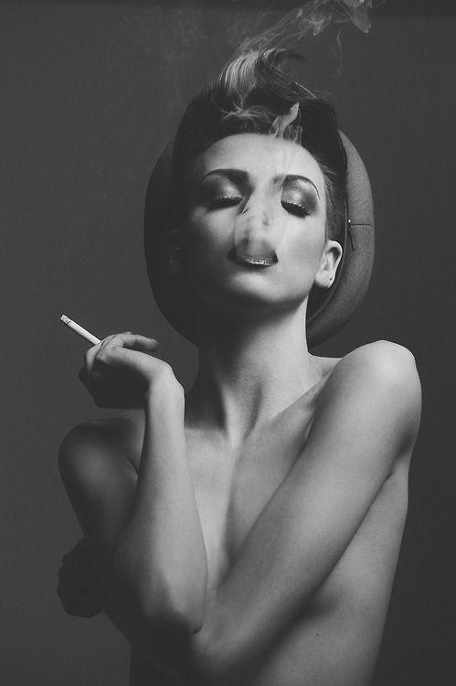 Girl smoking and sex