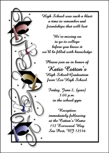 Best 25+ Graduation Announcements Wording Ideas On Pinterest
