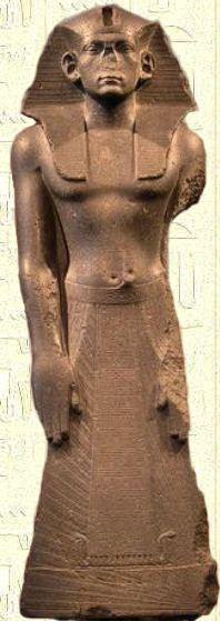 Estatua de AMENEMHAT II tercer faraón de la Dinastía XII perteneciente al Imperio Medio. Reinado 1930 a 1895 a.C. Expuesta en el Museo Egipcio de El Cairo.