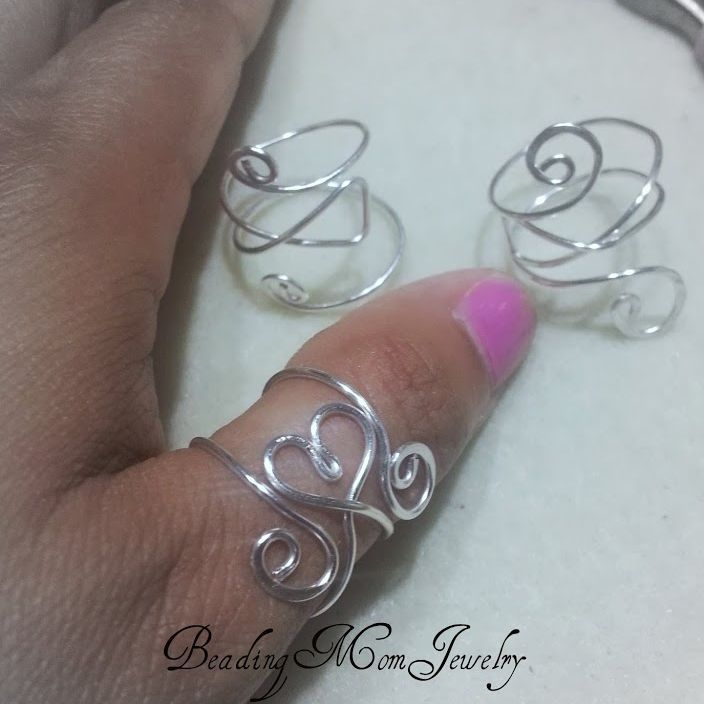 Heart adjustable cuff ring | JewelryLessons.com tutorial available for purchase or figure it out myself