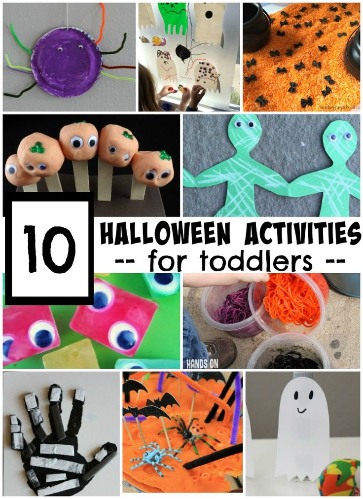 10 Halloween Activities for Toddlers - simple games, crafts, and activities toddlers will love!