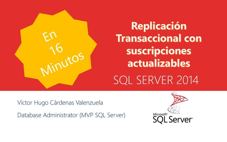 Replicación transaccional con suscriptores actualizables. De forma predeterminada, los suscriptores de publicaciones transaccionales deben tratarse como de solo lectura, porque los cambios no se propagan del vuelta al publicador. Sin embargo, la replicación transaccional ofrece opciones que permiten realizar actualizaciones en el suscriptor, una de esas opciones es la replicación transaccional con suscripciones actualizables. - SQL Server -
