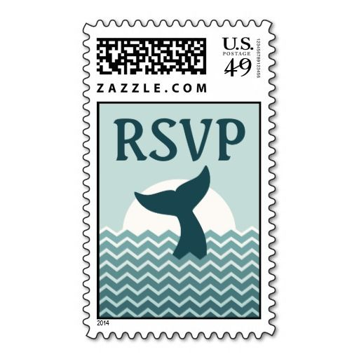 Whale Tail RSVP Stamps