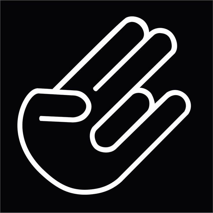 Shocker Funny Hand Gesture JDM Car Body Window Bumper Vinyl Decal Sticker #Oracal