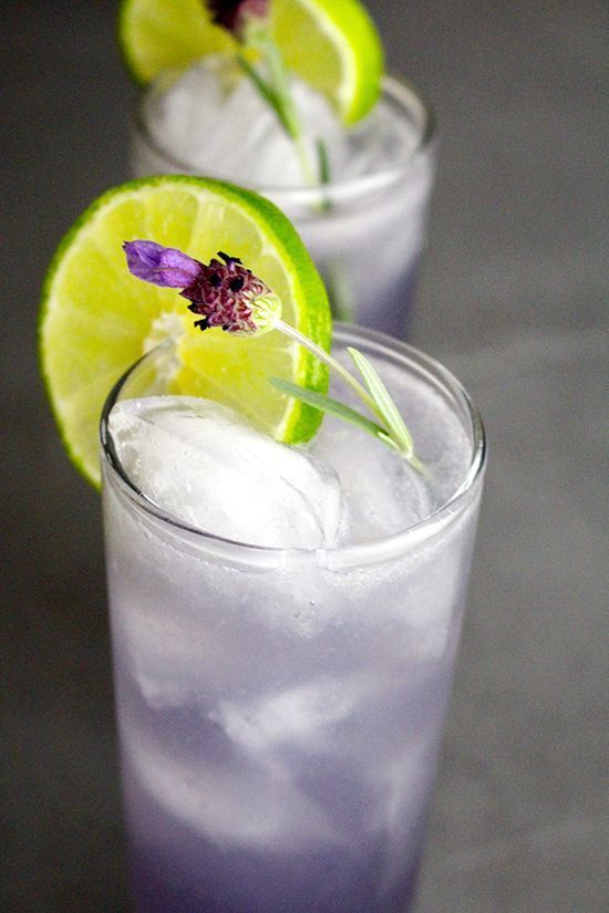 Lavender Margarita The combo of creme de violette and lavender syrup make for one lovely tequila cocktail. #tequiladrinks