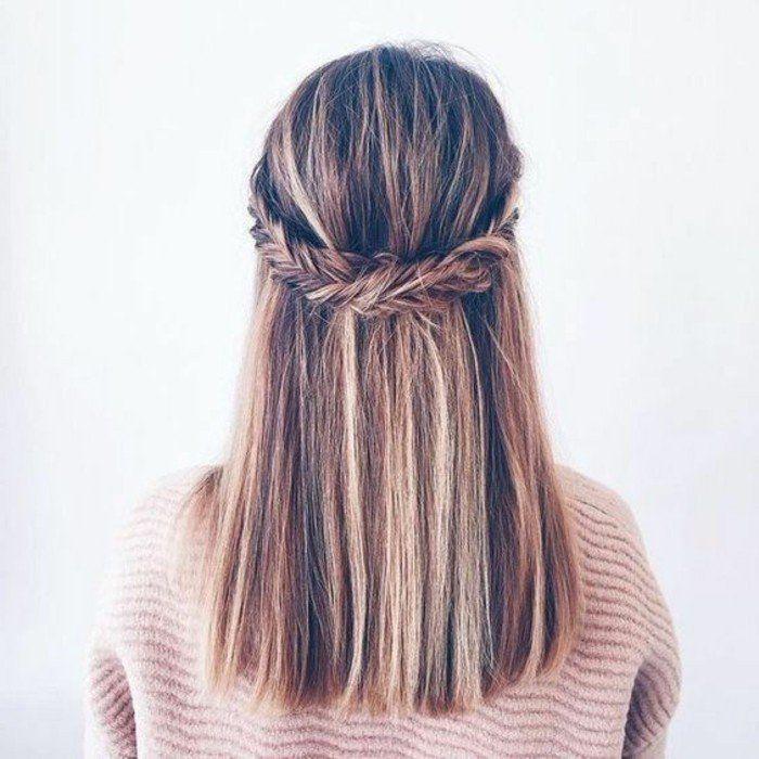 magnifique coiffure simple et rapide, une suggestion classique et sympa, tresse en épi de blé