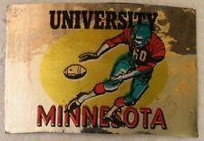 Vintage 1960 Topps University Minnesota College Football Metallic Sticker Insert
