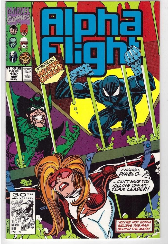 Alpha Flight #102 Autographed Marvel Comic Book Signed Tom Morgan Scott Lobdell