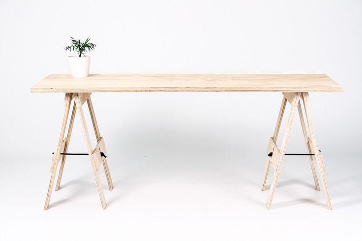 Trestle Desk   Wooden Trestle Table   NZ – George & Willy