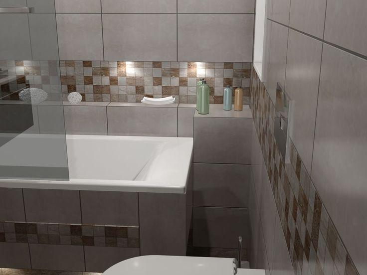 Δημιουργία εσοχής επάνω από την μπανιέρα και κατά μήκος ολόκληρου του τοίχου.
