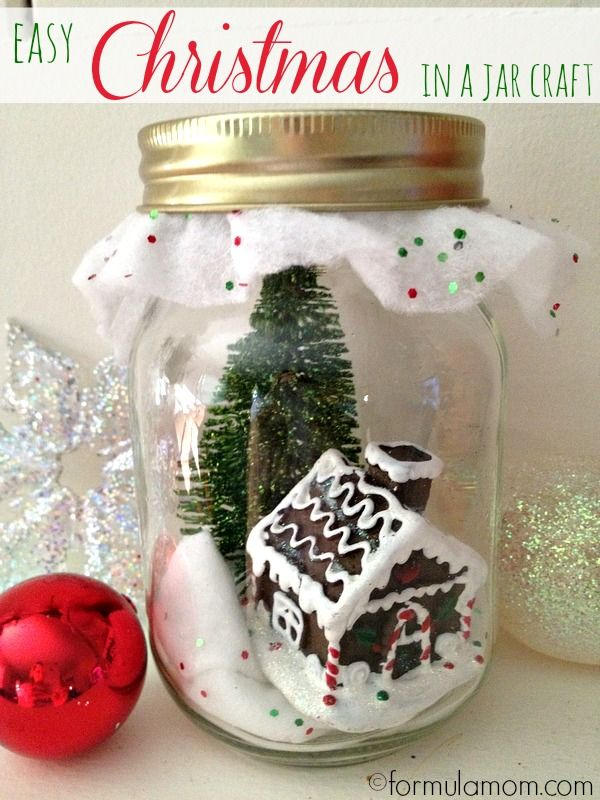 Dollar Tree DIY: Christmas in a Jar #christmas #crafts